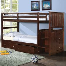 Twin Bunk Bed with Storage by Donco Kids