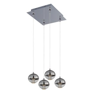 Talitha 4-Light LED Cluster Pendant by Orren Ellis