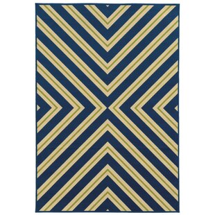 Heath Blue/Ivory Zig Zag Indoor/Outdoor Area Rug