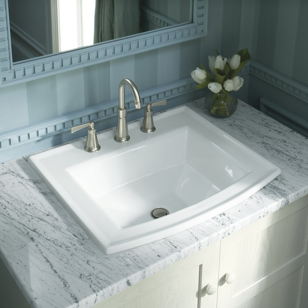 K 2356 1 0 33 47 Kohler Archer Vitreous China Rectangular Drop In Bathroom Sink With Overflow Reviews Wayfair