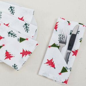 Christmas Trees Cotton Napkin (Set of 4)