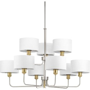 Mercer41 Jamiya 9-Light Shaded Chandelier