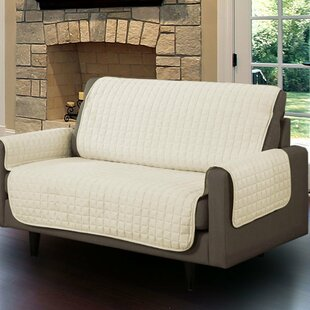 Microsuede Box Cushion Loveseat Slipcover