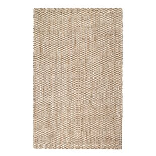 Martindale Hand-Woven Cream Area Rug by Breakwater Bay