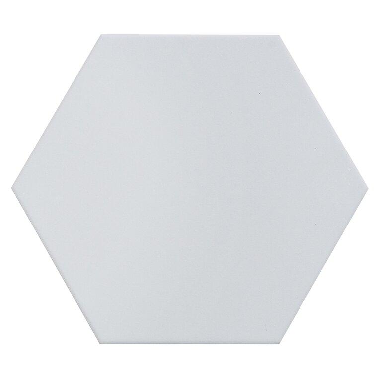 Milan  Hexagon 8X9.5 Silver Floor & Wall Tile