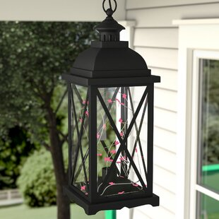 Kaneville Battery-Operated 1-Light LED Outdoor Hanging Lantern by Charlton Home