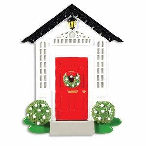 Home Door Shaped Ornament with Peak