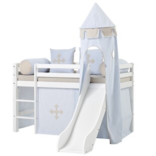 Free Shipping Basic Mid Sleeper Bed With Textile Set