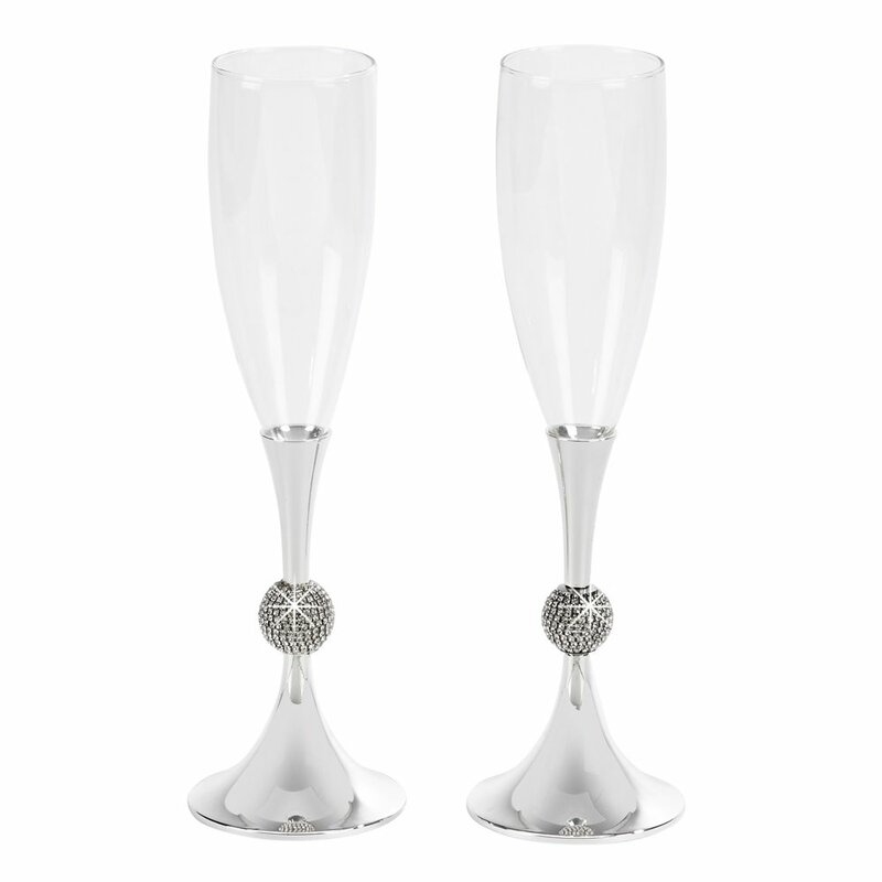 Rosdorf Park Gil Crystal Ball Toasting Glass Flute Wayfair