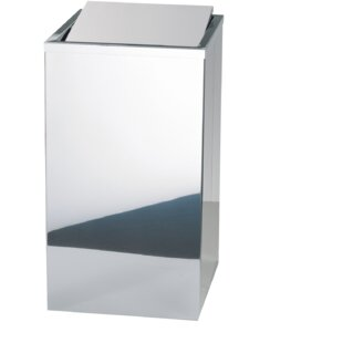 Order Stainless Square Laundry Hamper with Swing Cover Lid ByAGM Home Store