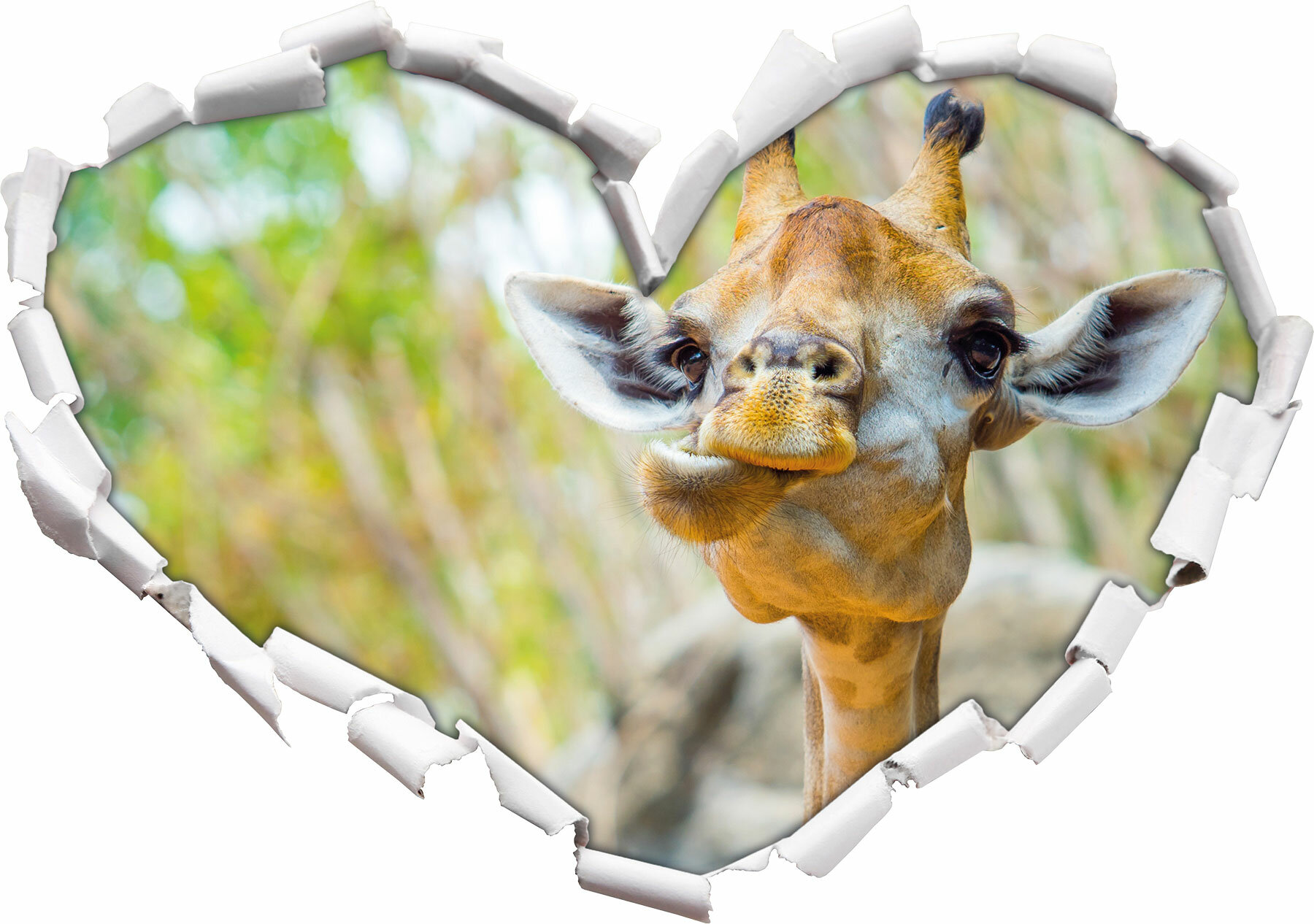 Home Loft Concept Wandtattoo Giraffe In Der Natur Wayfair De