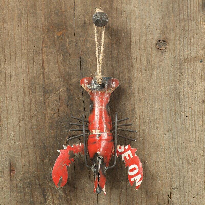 The Holiday Aisle Lobster Reclaimed Metal Hanging Figurine Ornament Wayfair
