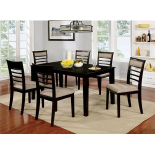 Opalstone 7 Piece Solid Wood Dining Set by Gracie Oaks 2019 Sale