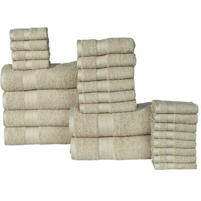 The Twillery Co. Arias 24 Piece 100% Cotton Towel Set Color: Jade
