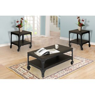 Williston Forge Burchette 3 Piece Coffee Table Set