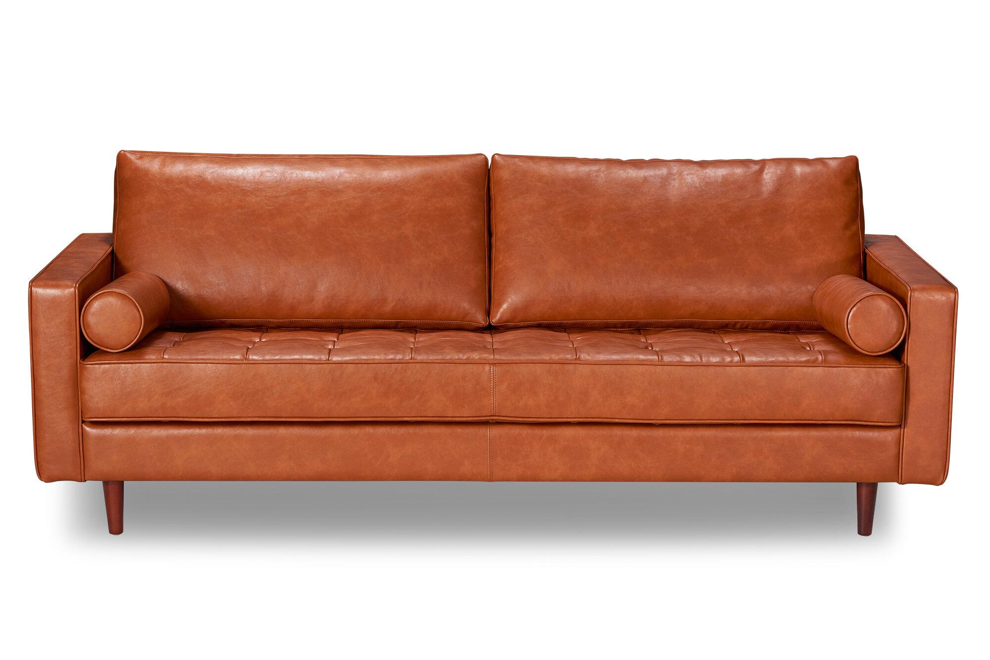 Bombay Leather Sofa & Reviews | AllModern