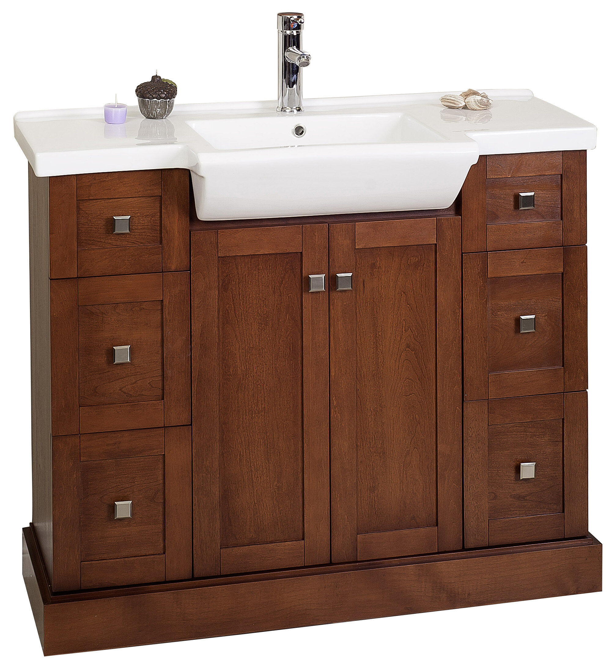 nook bathroom countertop yellow mirror sink vanity white ensemble