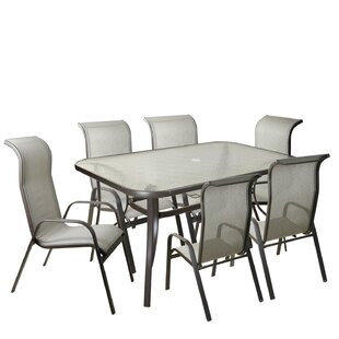 Asberry 7 Piece Mesh Outdoor Patio Dining Set