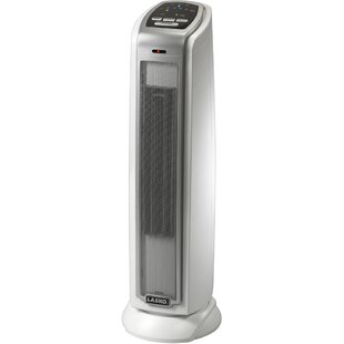 Ceramic 1-500 Watt Portable Electric Fan Tower Heater with Thermostat