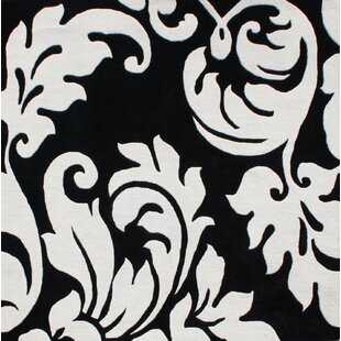 Inexpensive Hand-Tufted Black/White Area Rug ByThe Conestoga Trading Co.
