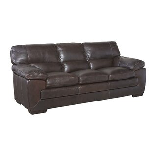 Antora Genuine Leather Sofa by Red Barrel Studio