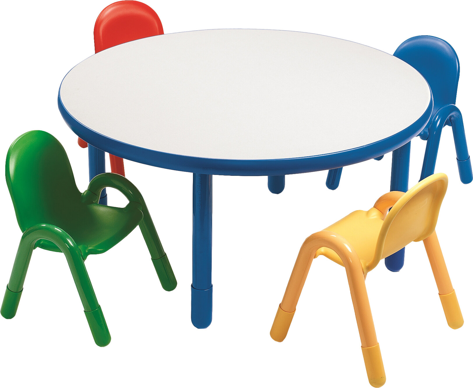 e4baceb68837 Angeles Round Baseline Preschool Table and Chair Set in Royal Blue    Reviews