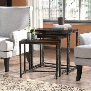 Trent Austin Design Wheeler 3 Piece Nesting Tables