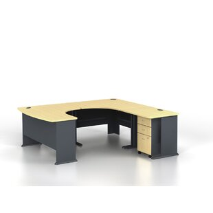 Bush Business Furniture Series A U-Shaped Desk Office Suite