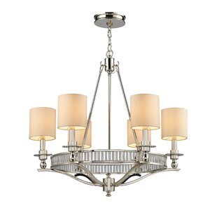Alcott Hill Heiman 6-Light Shaded Chandelier