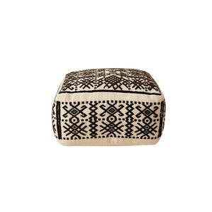 Priestly Truck Ship Wool Hand-Woven Ottoman by Bloomsbury Market