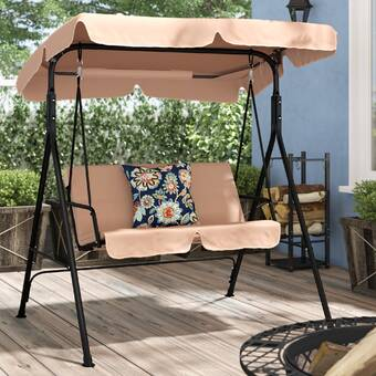 Arlmont Co Haleigh Porch Swing With Stand Reviews Wayfair
