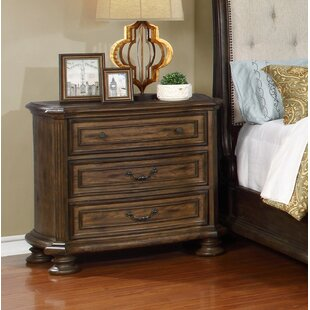 Blackshear 3 Drawer Nightstand by Charlton Home