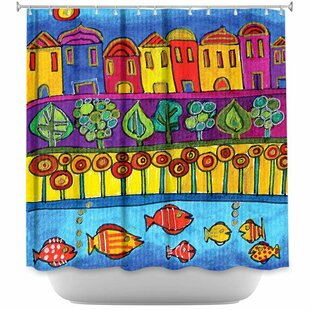 Fishing Village Single Shower Curtain