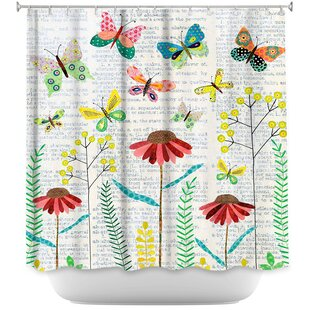 April Butterflies Single Shower Curtain