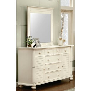 Coyer 5 Drawer Combo Dresser with Mirror