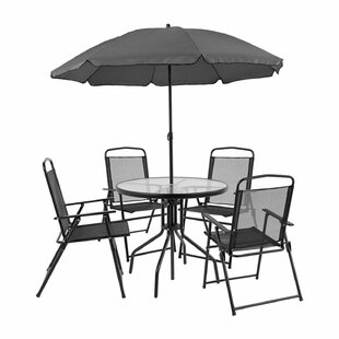 Dante 6 Piece Dining Set with Umbrella