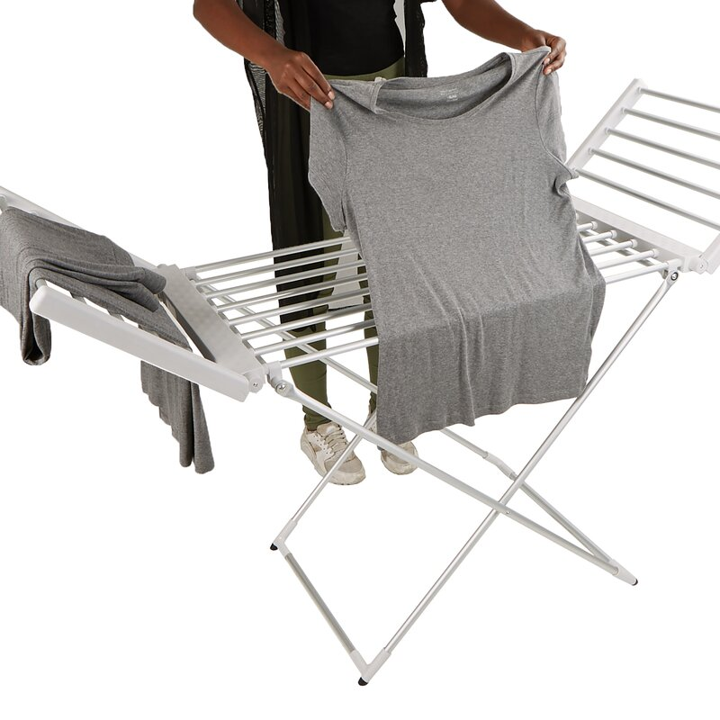 Exceptionnel 100 Watt Stainless Steel Portable Electric Heated Folding/Free Standing  Drying Rack