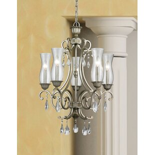 Alcott Hill Guernsey 5-Light Shaded Chandelier