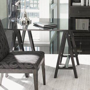 Carrera Glass Writing Desk and Chair Set by Lexington