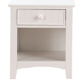 Giacomo 1 Drawer Wooden Nightstand