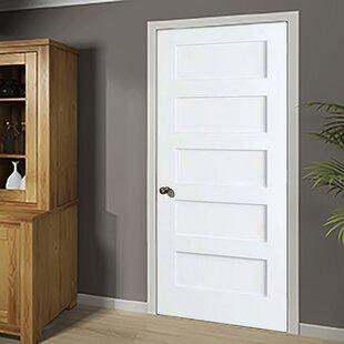 Lovely Shaker Solid Wood 5 Panel Wood Slab Interior Door