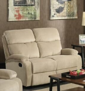 Toribio Leather Motion Reclining Loveseat
