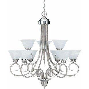 Volume Lighting Troy 9-Light Shaded Chandelier
