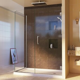 Unidoor Plus 44 x 72 Hinged Frameless Shower Door with Clear Max Technology by DreamLine