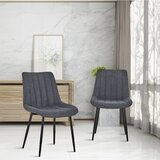 Progreso Upholstered Side Chair in Gray (Set of 2) by George Oliver