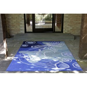 Claycomb Hand-Tufted Blue Indoor/Outdoor Area Rug