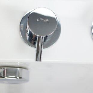 Transfer L Shape Wheelchair Accessible Hydro Massage Microbubble Heated Seat 52 x 30 Walk-in Combination Bathtub in , Right by Ella Walk In Baths
