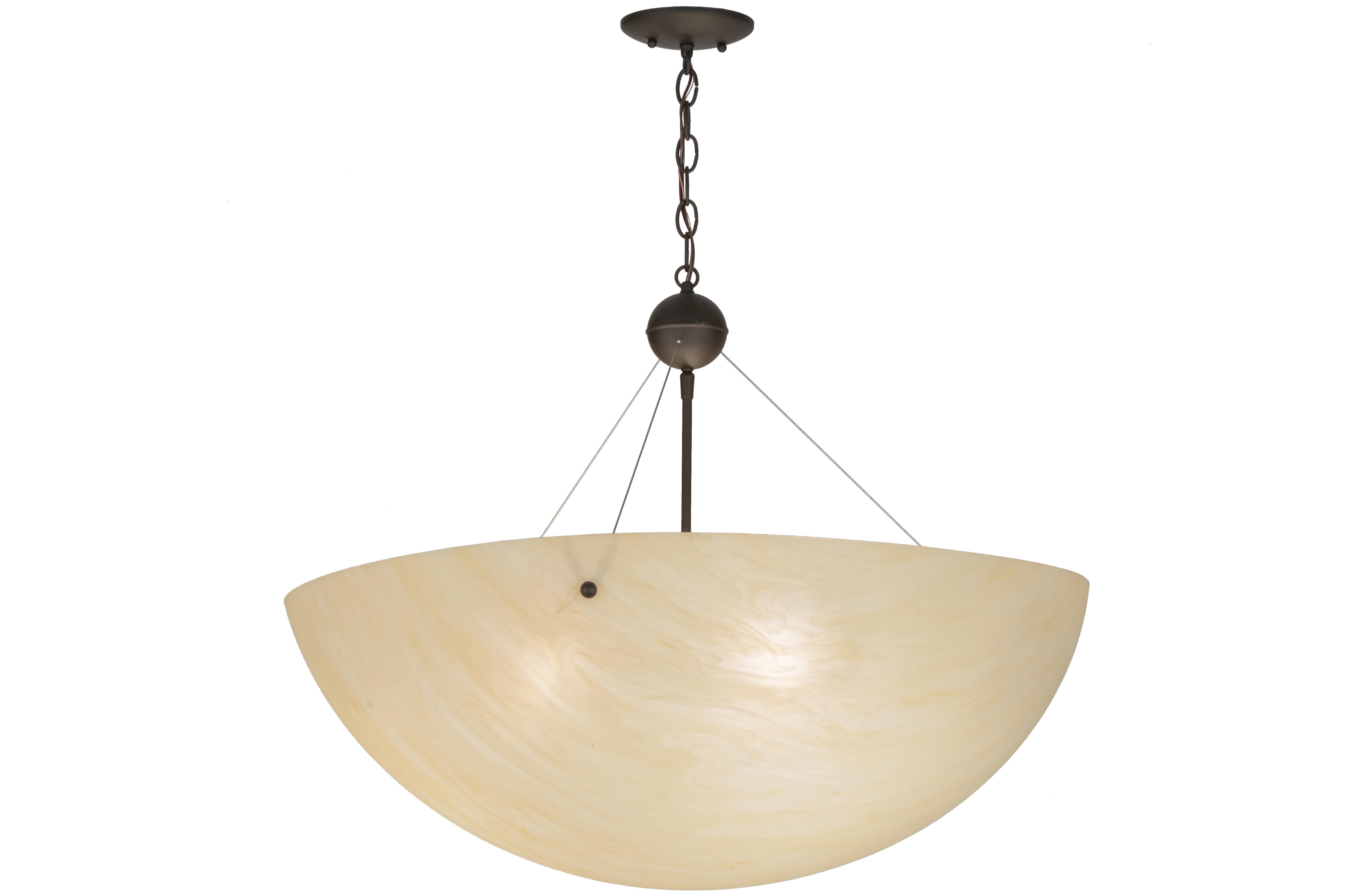 Meyda Tiffany Greenbriar Oak 3 Light Unique Statement Bowl Pendant Wayfair