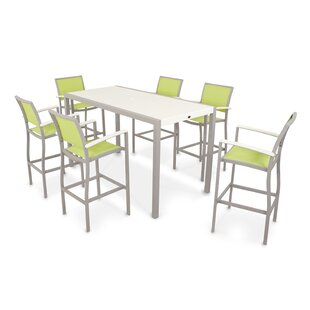 POLYWOOD® Bayline™ 7 Piece Bar Height Dining Set