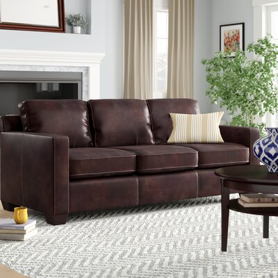 3 Seat Brown Leather Sofas You Ll Love Wayfair